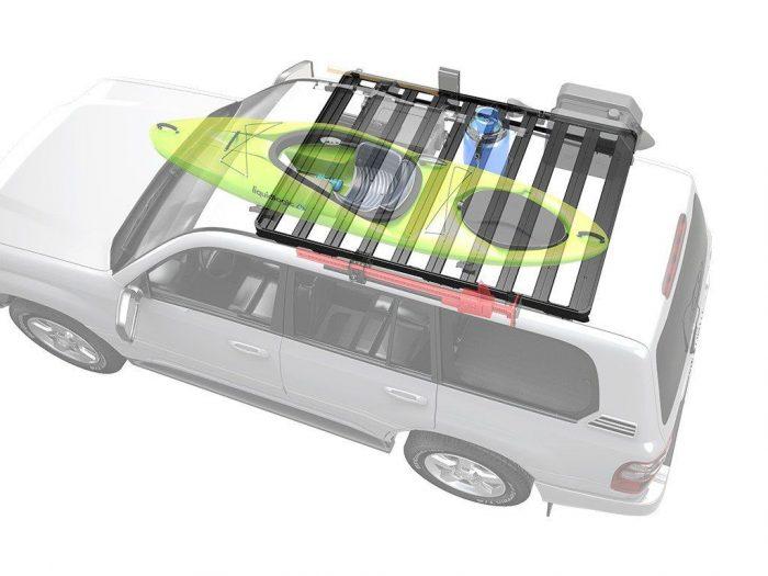 toyota land cruiser 100 roof rack lexus lx470 slimline ii roof rack kit - by front runner