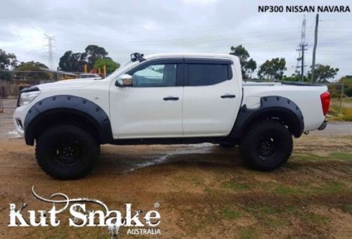 Kut Snake plastic fender flares Nissan Navara D23 NP300 for cars without ADBlue