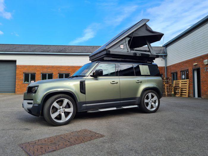 TUFF-TREK OVERLAND SERIES MK2 Aluminium Roof Tent New Defender front view