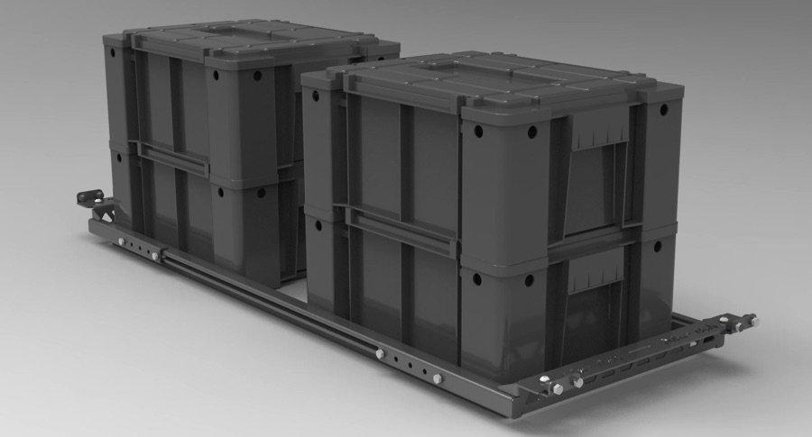ALU-CAB UK AMMO BOX SLIDER SHELF
