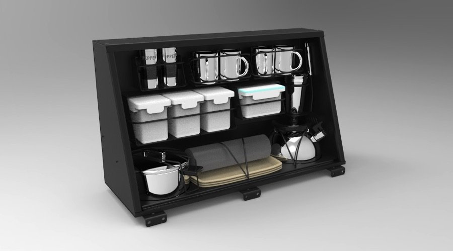 ALU-CAB UK Alu-Cab-Kitchen-Cupboard-Kit SIDE LOCKER